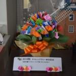 【本館】折り紙のチューリップで花束ができました!